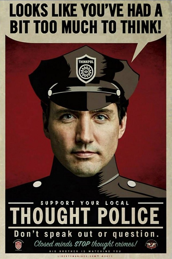 Looks like you've had too much to think! Support your local Thought Police! Don't speak out or question. Closed minds stop thought crimes! Big Brother is Watching You.