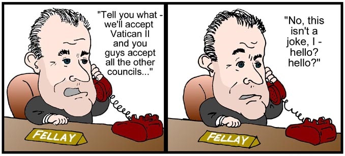 Leader of FSSPX speaks to the Vatican on the telephone.