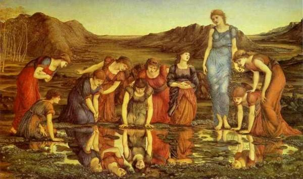 Sir Edward Burne-Jones. The Mirror of Venus.