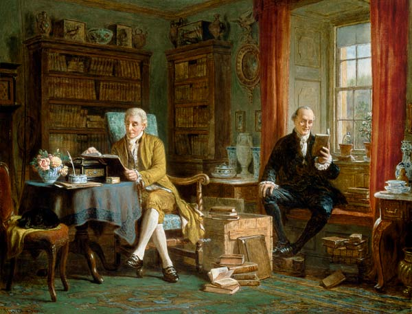 John Watkins Chapman. In the Library.