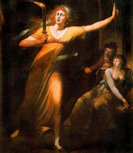 Johann Heinrich Füssli. The Sleepwalking Lady Macbeth.
