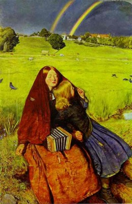 Sir John Everett Millais. The Blind Girl