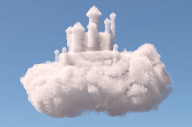 Castle made of clouds.