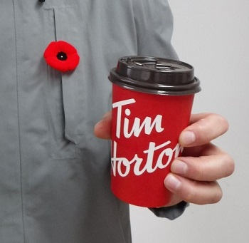 My poppy and my cup of Tim's.