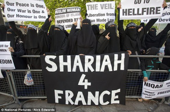 Pro-Sharia demonstration in France.