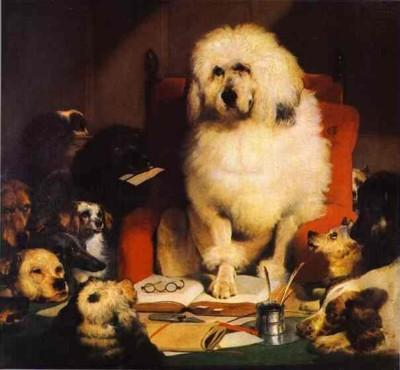 Sir Edwin Landseer. Laying Down the Law.