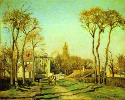 Camille Pissarro. Entrance to the Village of Voisins.