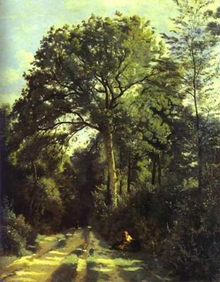 Jean-Baptiste-Camille Corot. Ville-d'Array: Entrance to the Wood, etc.
