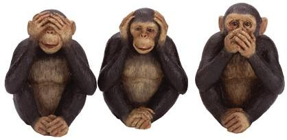 See no evil, hear no evil, say no evil