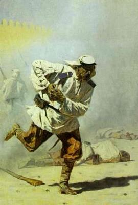 Vasily Vereshchagin. Blessé mortellement.