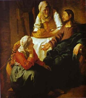 Jan Vermeer. Christ in the House of Mary and Martha.